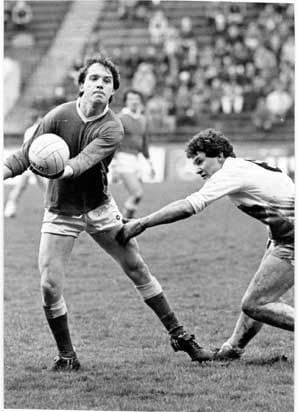 Michael Burns pictured playing with Cork against Kildare in a league game in February 1984.