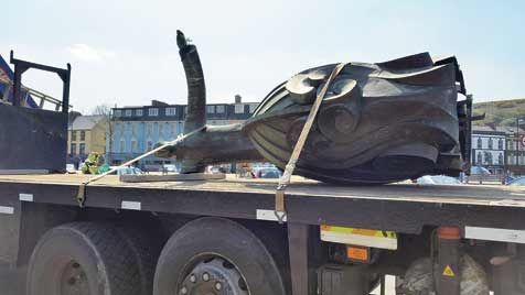 Wheres the arm in that: St Brendan is ready for repair.