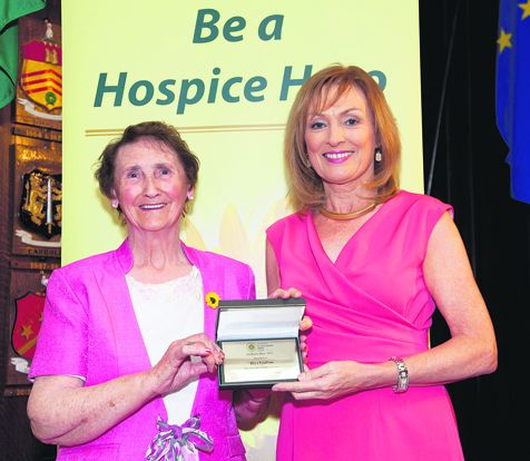 RTEs Mary Kennedy with Lilly OSullivan, from Ballygarvan, Co Cork, who was nominated for her tireless work with the Friends of Marymount.