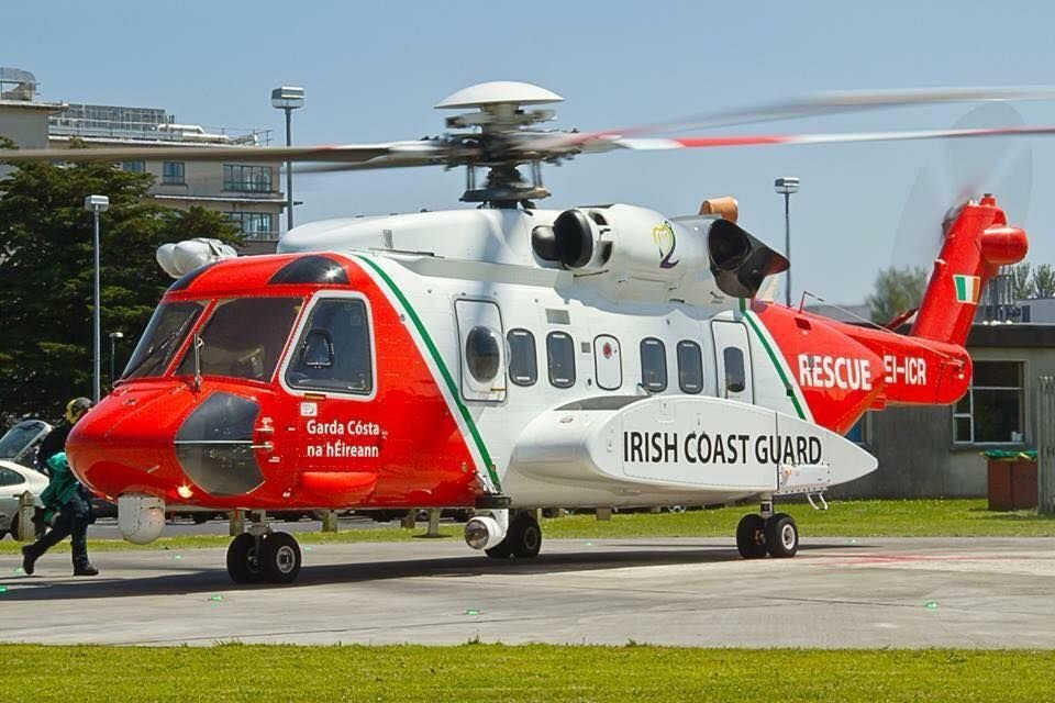 A Coast Guard helicopter is currently in Castletownbere assisting a HSE ambulance