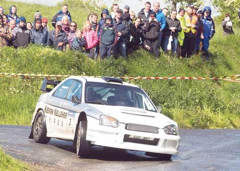 Top-four finish: Clonakiltys Kevin Kelleher (Subaru WRC)  finished fourth in the Deebert House Hotel Circuit of Munster Rally.