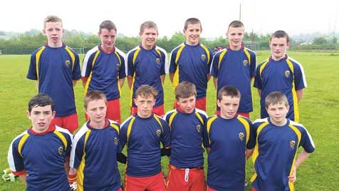 Having fun: Tadhg MacCarthaighs U15s were involved in one of the games of the day.