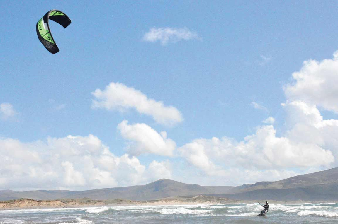 Flying high: Darragh OBrien, from Durrus, started kitesurfing last year and has made great strides since.