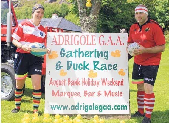 Date for your diary: Members of the organising committee launched the annual Adrigole GAA Duck Race Festival.