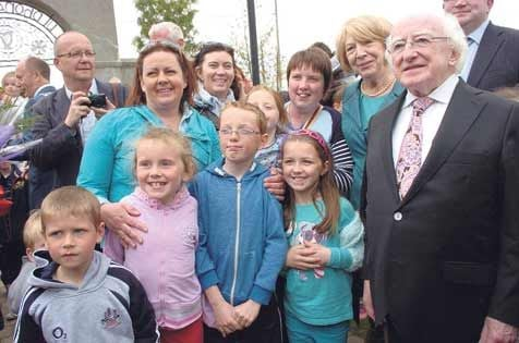 President and Mrs Higgins posed for numerous photos when they visited Skibbereen last week.