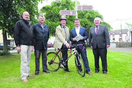 Pictured at the launch of a new marketing plan for the Beara-Breifne Way were - from left - Seamus Coffey, Jim OSullivan, The Beara Way, West Cork; Matt Ryan, The Ormond Way, North Tipperary; Minister Alan Kelly and Michael Parsons of the Heritage Counci
