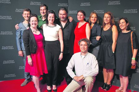 The West Cork contingent at the Munich Film Festival where their film Happy Hour won the Best Production award.