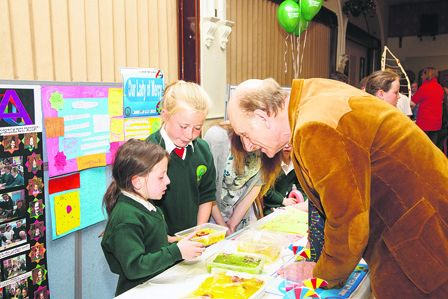 Pictured at the Primary Schools Science of Life Fair, run by the West Cork Education Centre, Dunmanway, were organisers and guests  from left  Noel Coakley, management committee member, West Cork Education Centre; Dympna Daly, chairperson, do; Michael