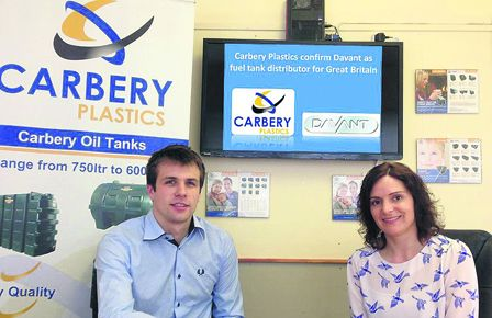 Cal McCarthy (left), who is in charge of operations and new product development at Carbery Plastics, Clonakilty, pictured with Jill Turner, sales co-ordinator.