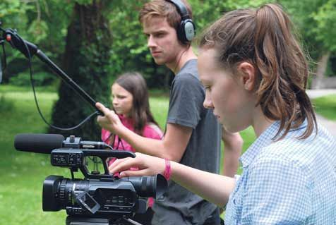 Young film makers in action earlier this summer which comes to West Cork next week