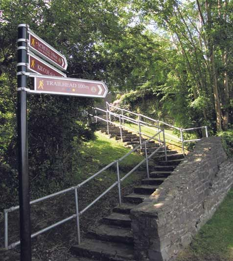 Some of the new Fastnet Trails signposts in Ballydehob
