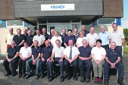 Staff of Prenco Manufacturing Ltd on the Baltimore Road in Skibbereen, who recently celebrated their anniversary