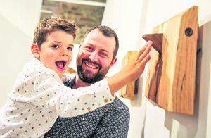 Denis Cotter and his son, Noah, from Ballingeary were at the launch of Cork Craft Month, which runs until September 4th. The launch took place at the James ONeill Building (formerly the Old Mill)in Kinsale  one of the main exhibition spaces used as part