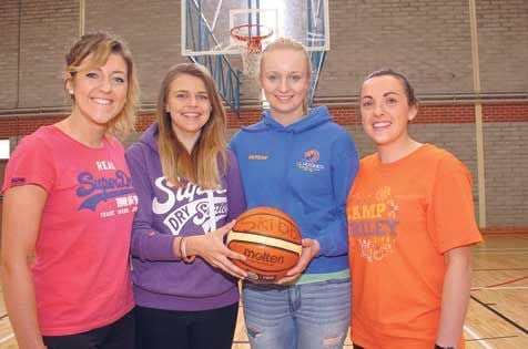 Hoop dreams: Alice ODriscoll, Grainne McCarthy, Gillian Coombes and Mairead ODriscoll are organising a basketball camp in Skibbereen Sports Centre this month.