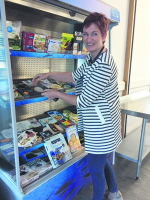BIM Seafood Technologist Aileen Deasy with some of the products in the display area