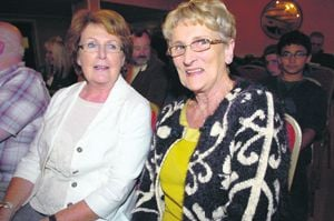 Ann Cronin from Glengarriff and Margaret Warner from Bantry at the talk in the West Cork Hotel.