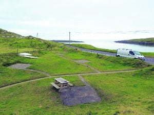 A more peaceful Galley Cove after the Council and local people finished cleaning it up on Monday.