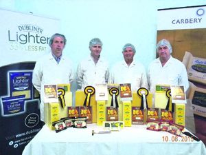 Pictured with their awards were Carbery cheesemakers Dermot Curtain, Michael Cahill, Michael Twomey and Liam Hosford.