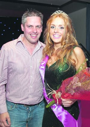 Miss Bantry 2015 Cadhla OSullivan, with Richard Harrington of her sponsor, Quay