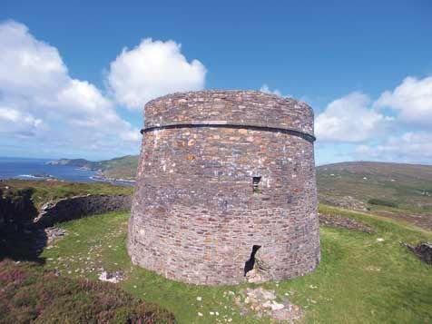 One of the two Martello Towers on Bere Island.