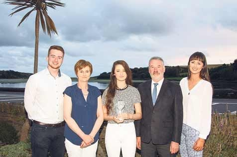 Family occasion: Celtic Ross West Cork Youth Sports Star quarterly award winner Maria Nagle, centre, pictured with, from left, her brother Peter, parents Mary and John and her sister Fiona. Her brother James is missing from the photo.