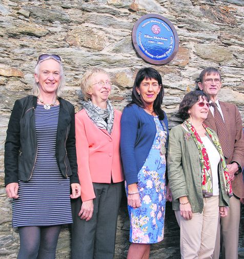 At the unveiling of a plaque in memory of botanist Ellen