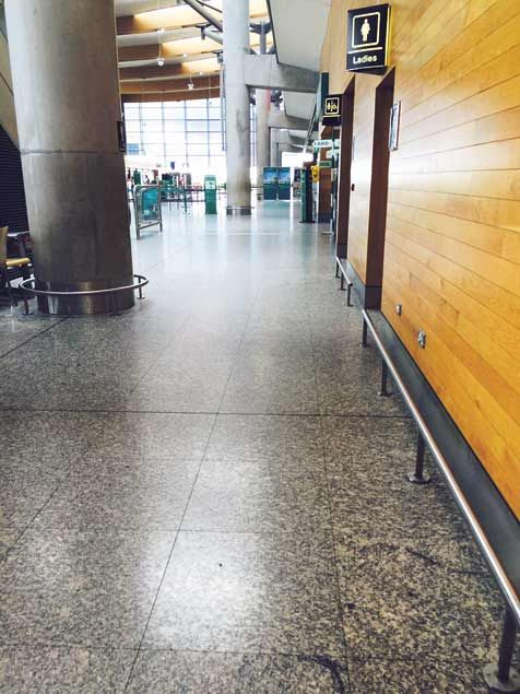 Looking down the hallway to the check-in area at Cork Airport on a recent Friday afternoon