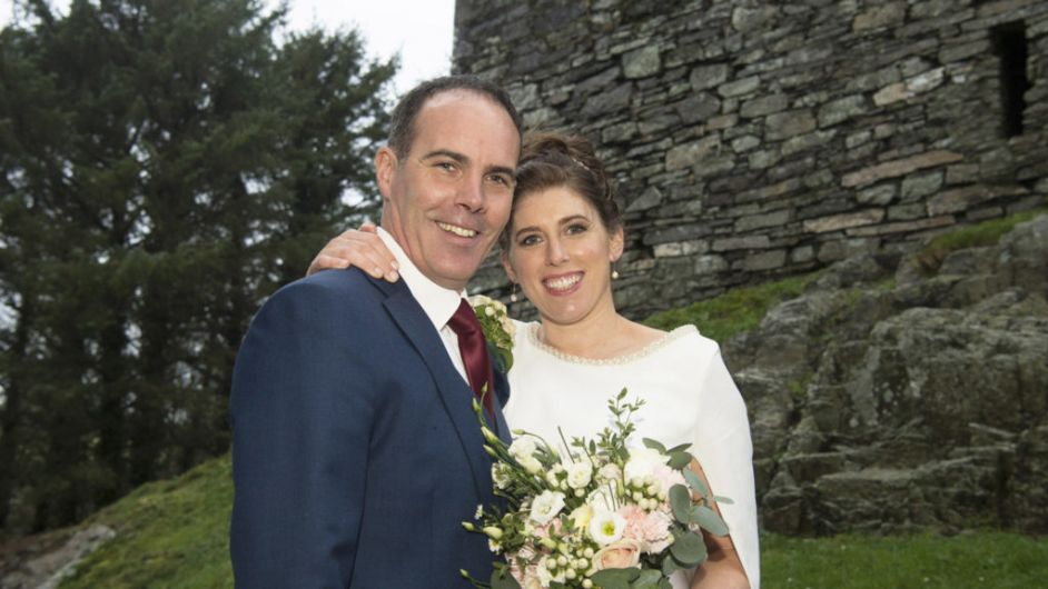 Christmas-themed ceremony as Declan and Catherine tie the