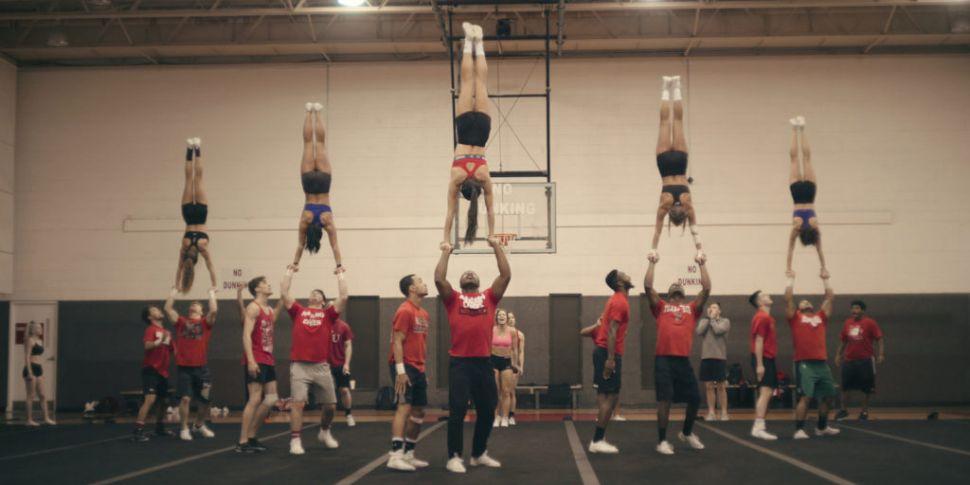 The Navarro College Cheer Team...