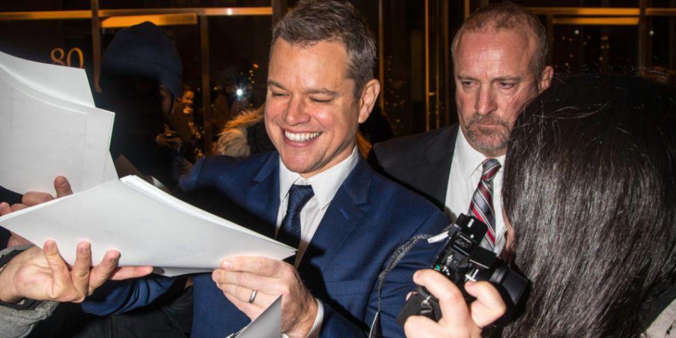 Matt Damon Sends Video Message...
