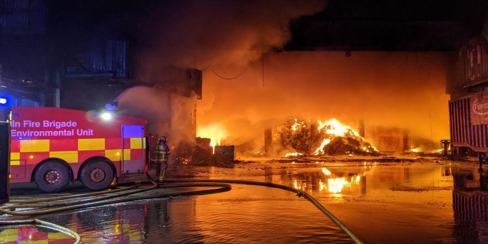 Large Fire In Dublin Brought U...