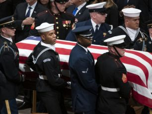 USA Says A Final Goodbye To Former President George HW Bush