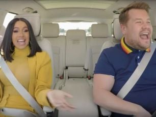 WATCH: James Corden's Carpool Karaoke With Cardi B