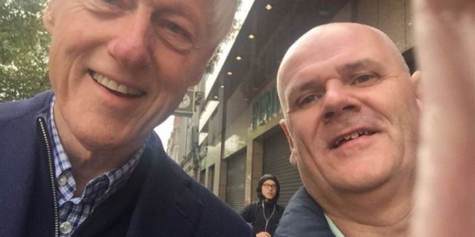 Bill Clinton Spotted Taking Selfies Outside Penney's