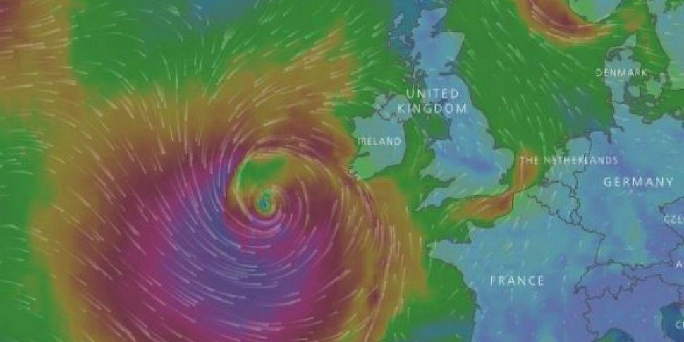 Storm Brian Could Be Heading Towards Ireland