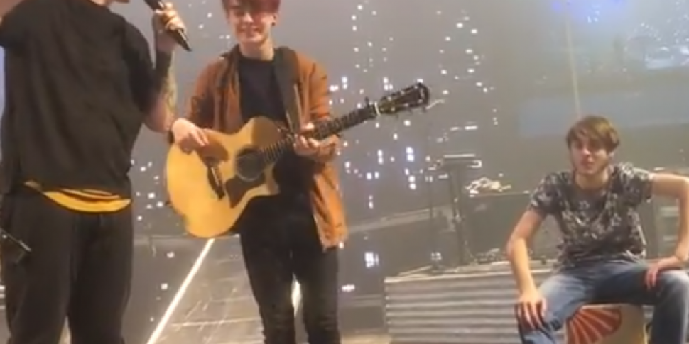 The Script Brought Two Scottish Buskers On Stage Over The Weekend