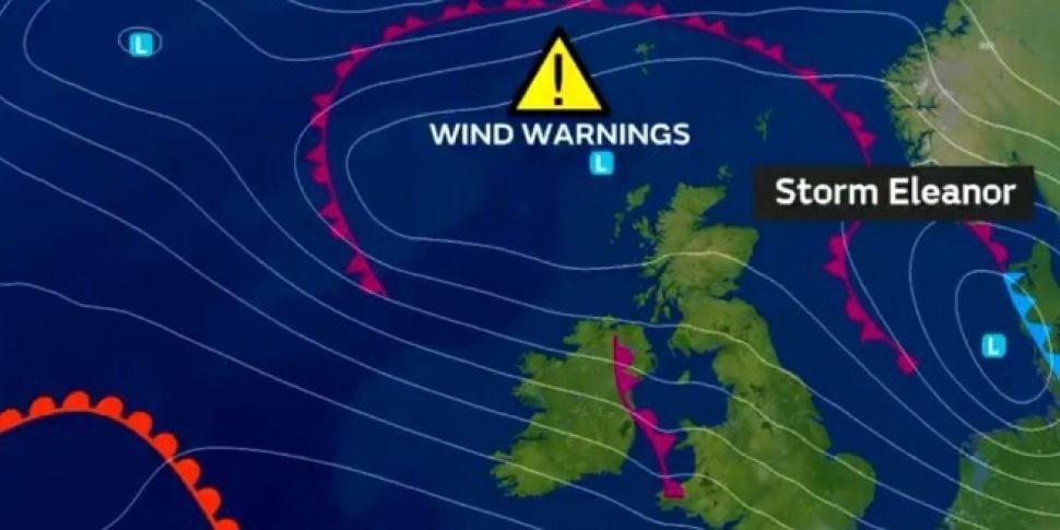 Status Orange Weather Warning Ahead of Storm Eleanor