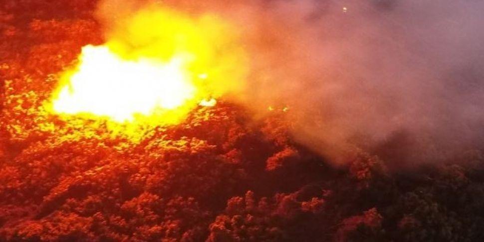 Dublin Fire Brigade Battle Blazes In The Mountains