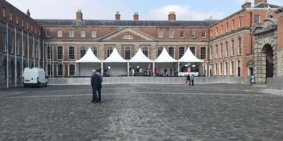 Dublin Castle Courtyard Open To The Public For Referendum Result
