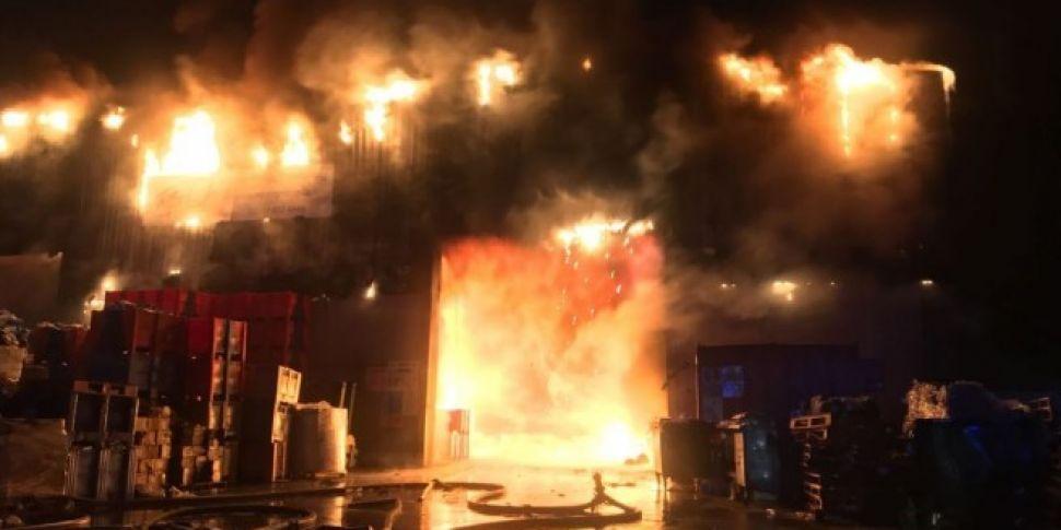 Dublin Fire Brigade Battle Huge Blaze Near The N7