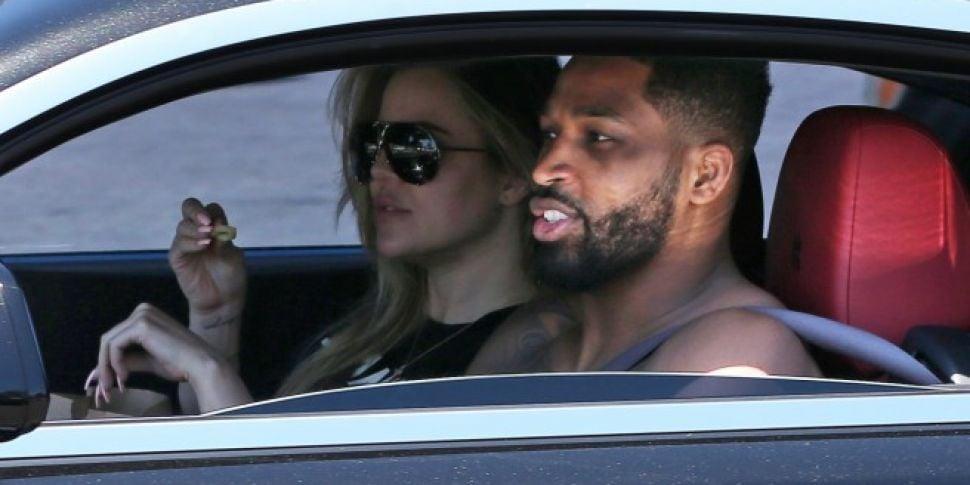 Khloe & Tristan Seen Together At Drive-Thru In LA