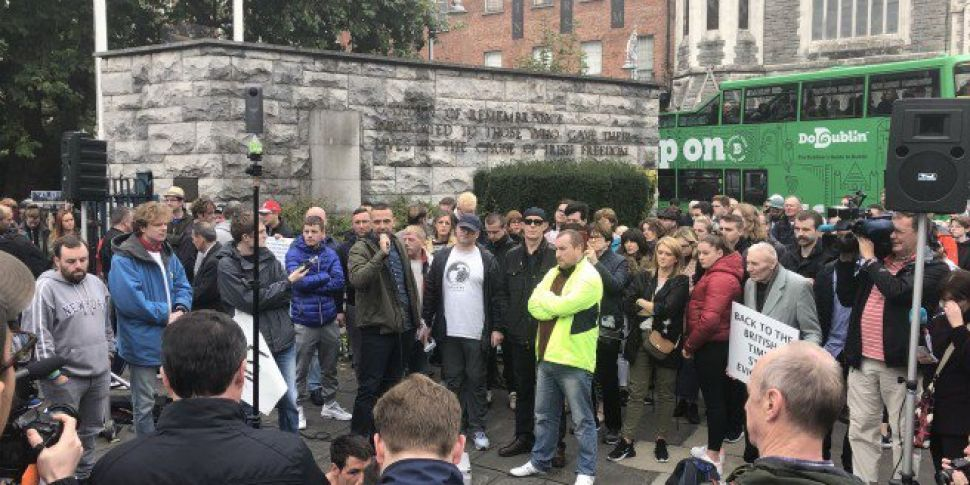 City Centre At A Standstill As Housing Protest Takes Over O'Connell Bridge