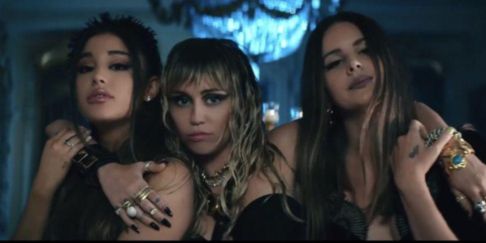 WATCH: Ariana Grande, Miley Cy...