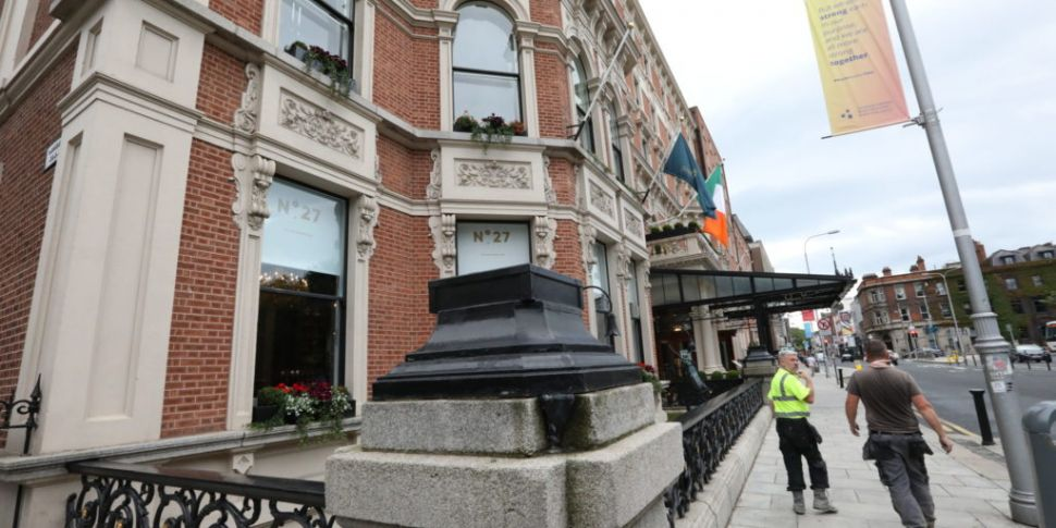 Statues Outside The Shelbourne...