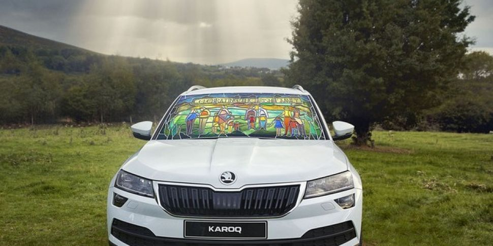 Skoda Reveals A Stained Glass Car To Mark The Papal Visit