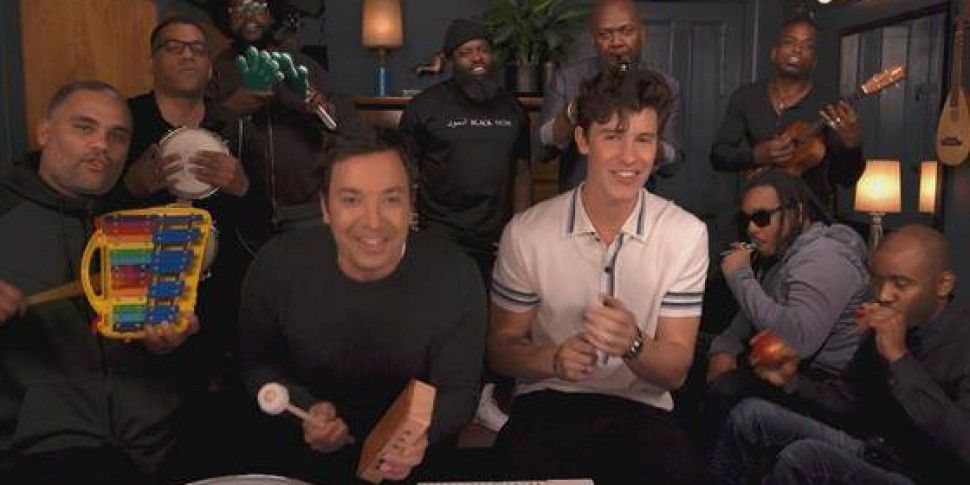 Shawn Mendes Joins Jimmy Fallon & The Roots For The Classroom Instruments Version Of Treat You Better