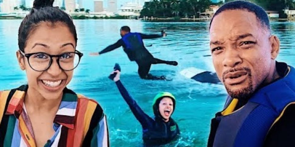 Will Smith Went Hydrofoil Surfing With Liza Kohsy