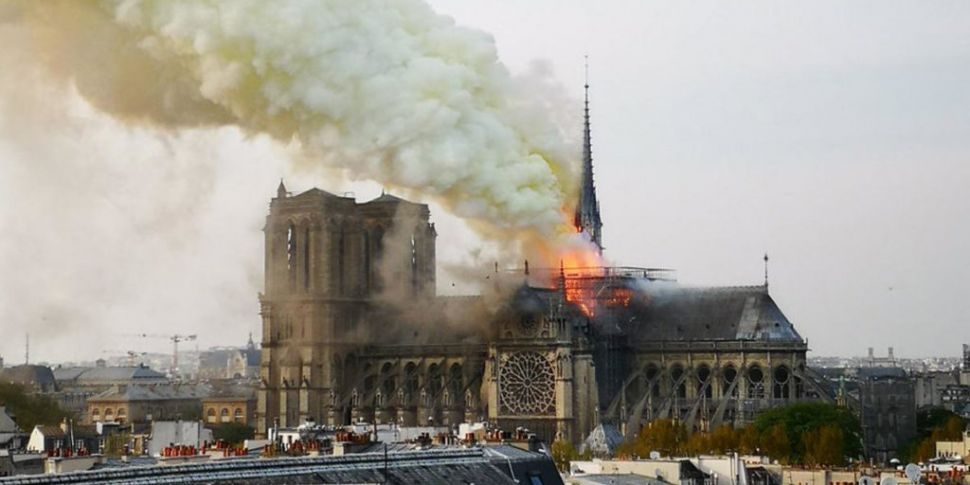 Notre-Dame Cathedral On Fire I...