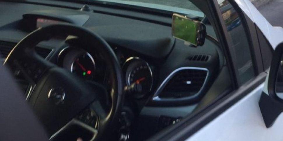 Driver Caught Watching Champio...