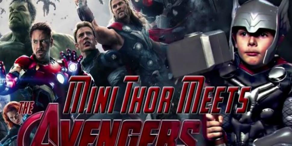 Mini Thor interviewing Robert...